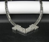 White gold necklace featuring brilliant-cut diamonds approx. 1.80 ct.