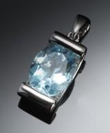 Vedhæng med topas og diamanter