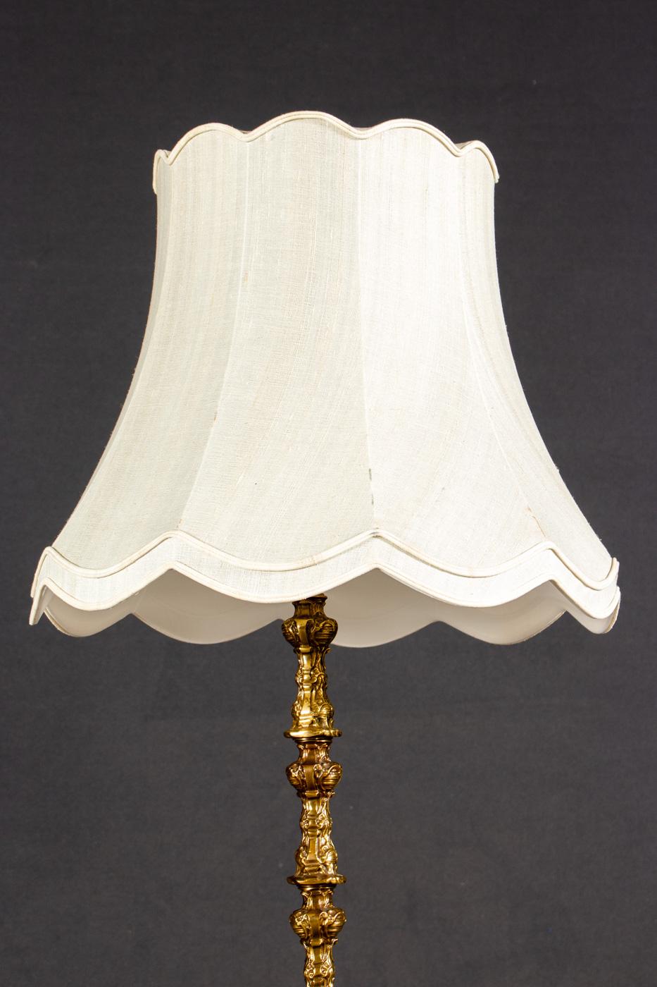 Stehlampe Aus Messing Vermutlich Um 1900 Lauritz Com