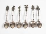 Sex kaffeskedar, silver (6)