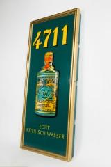 Reklame/neonreklame/reklameskilt, 'Kölnisch Wasser 4711', plast og metal, 1970'erne