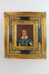 Ölgemälde im prunkvollen Rahmen, Portrait eines jungen Mannes