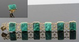 Malachite bracelet and ring in 18kt (2)