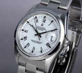 Rolex 'Date' men's watch, steel, white dial with date, c. 2003