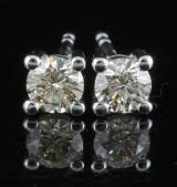 Earrings in 18k set with brilliant cut diamonds 0.50 ct