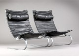 Poul Kjærholm. A pair of lounge chairs, PK-20 from E. Kold Christensen (2)