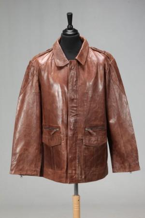 ea987c4f Casual Classic. Cognacfarvet herre skindjakke, str. ca. XL | Lauritz.com