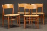 Børge Mogensen . Fire stole af eg og teak (4)
