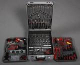 Værktøjssæt i alu kasse, 185 dele