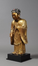 Chinese Buddha, wood with gilt, Qing, c. 1880