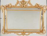 Bronserad spegel i nyrokoko