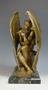 Jean Jaques Feuchere, bronze 'Mephistopheles'