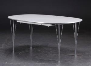 arne jacobsen bord Arne Jacobsen/Piet Hein. Super Ellipse bord med tillægsplader. (3  arne jacobsen bord