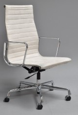 Charles Eames. Office chair, model EA-119, Alcantara
