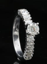 18kt diamond solitaire ring approx. 1.30ct