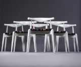 H. J. Wegner, 6 chairs, model CH 20, 'Elbow Chair', white lacquer (6)