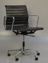 Charles Eames. Office chair, model EA-117, black leather