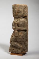 Holzfigur / Schnitzfigur, Indien, 'Gujrati Sajani', Holz