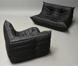 Michel Ducaroy. Sofa modules, model Togo, black leather (2)