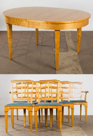 Konvolut Stuhle Esszimmerstuhle Und Tisch Esstisch Art Deco 8