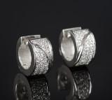 Brilliant-cut diamond earrings, approx. 0.57 ct. (2)
