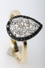 Diamond ring from FHP, 14 kt. gold, approx. 0.73 ct.