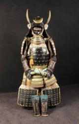 Samurai armour: Gendai Kuro Gusoku Okegawa Wakidate Yoroi, Japan