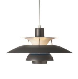 pendler - PH, Arne Jacobsen, Panton - PH-5 lampe i m?rk gr? med Poul ...