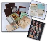Danmark. Samling frimærker, bl.a. skillingsmærker