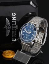 Breitling 'Suoerocean Heritage'. Men's chronometer in steel with date, c. 2012