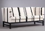 Erik Jørgensen. Sofa, model EJ-315/2, new upholstery with striped Savak wool
