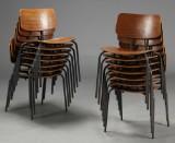 Dansk møbelproducent. Skolestole / stabelstole, 1970'erne (14)