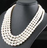 4 strand fresh water pearl necklace. <br>