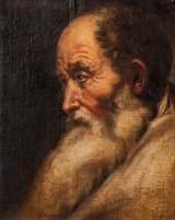 Jusepe de Ribera (attrib.), brystbillede af gammel mand, oliemaleri