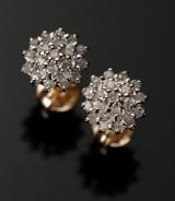Diamant ørestikkere. 9 kt guld, 0.38 ct