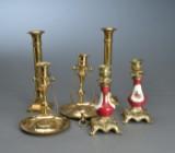 Tre par lysestager af messing, 1900-tallet (6)