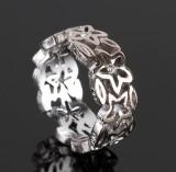 Ole Lynggaard 'Anemone' ring af hvidguld 18 kt. med brillanter.