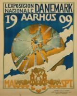 'L'Exposition Nationale Danemark, Aarhus 1909', vintageplakat