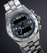 Breitling 'B1 Professional'. Men's chronograph, steel, with steel-grey dial, 2000s