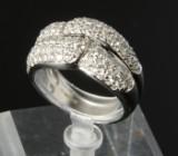 Diamantring i 18 kt. hvidguld