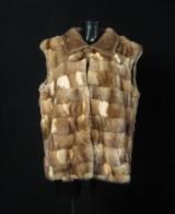 Patchwork sable vest approx. size. 44/46