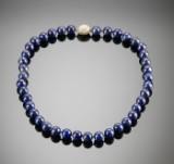 Lapis lazuli halssmykke med sølvlås. Scrouples