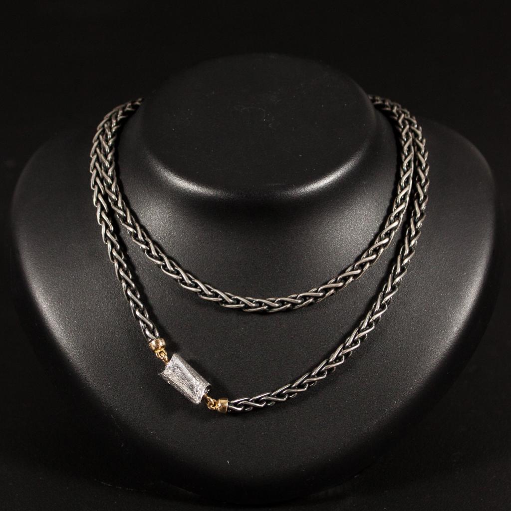 oxiderat silver halsband