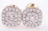Diamant ørestikker fra FHP. Rombeformet. 14 kt. guld. 0.52 ct. (2)