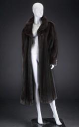 Mahogany mink coat, very light model, size 40 / 42