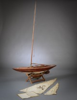 Model ship. Plank on frame constructed yacht model '549'