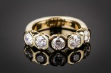 Diamond ring, 14 kt. gold, approx. 1.75 ct.