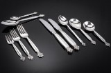 Johan Rohde for Georg Jensen. Cutlery in sterling silver, 'Acanthus' pattern (100)