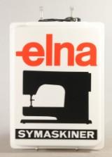 Lysskilt 'Elna Symaskiner'