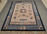 Antique hand-knotted Peking rug, China